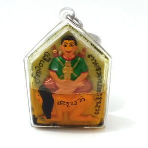 Amazing Khun Paen amulet by Ajarn Tawee power love luck wishes