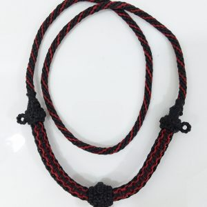 Thick and strong wax cord Thai necklace for 3 amulets