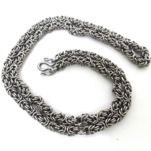 Stainless steel Thai amulet Chain for five amulets, 30″