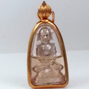 "AJ Naen Air, Thai ""Black Magic Monk"": Ltd Ed Silver Phra Ngang amulet"
