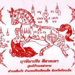 Buddha magic : Ma Saep Nang (horse + woman) magic cloth yant – THAI VOODOO for love & money luck