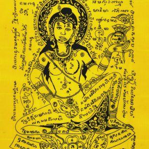 Mae Nang Rap pha yant magic cloth by Ajarn Meng Khun Paen – love riches charm luck