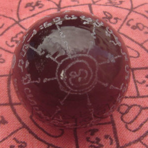 1.2″ Amulet crystal ball Luke Kraw Luang Poo Doo Monk Wat Sakha Temple